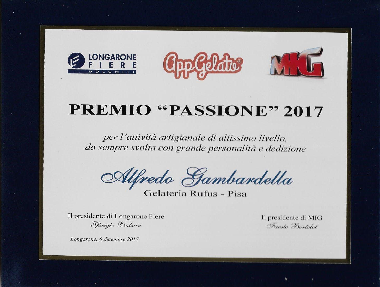 Premio passione